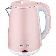 Стальной электрический чайник 1.8 л MAXTRONIC MAX-321 1800 Вт, цвет нежно-розовый