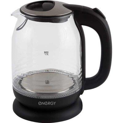 Чайник электрический 1.7 л ENERGY E-294 стекло пластик цвет черный 2200 Вт
