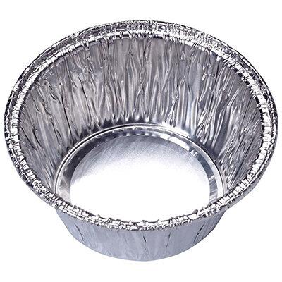 Форма из алюминиевой фольги одноразовая круглая 8х3,7 см Lamina Mallony