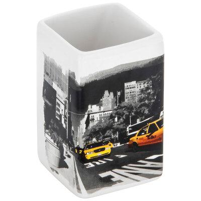 """Рыжий КОТ TU-NY Стакан для ванной комнаты """"Нью-Йорк"""", керамика"""