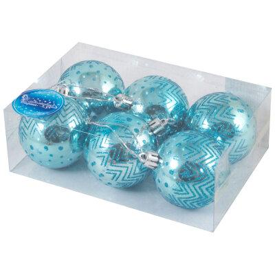 Наборы новогодних шаров 6 см SYCB17-553  6 шт