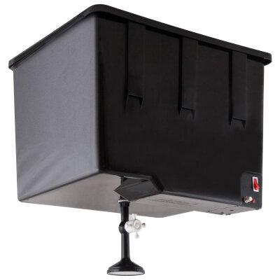 Бак 55 л для душа на дачу с подогревом ЭВБО-55 ЭлБЭТ пластиковый, Черный