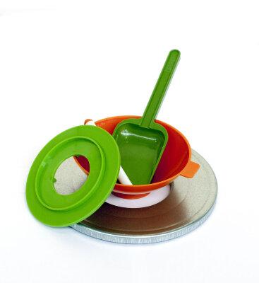 Набор для консервирования 647-01 5 предметов: воронка, переходник, магнитная палочка, стерилизатор, совок