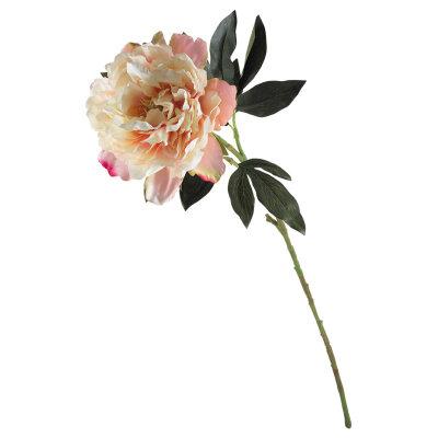 Искусственный садовый цветок для декора Пион из пластика и ткани 81.5 см