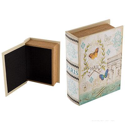 Шкатулка для бижутерии Винтаж Книга, 20х15х6 см