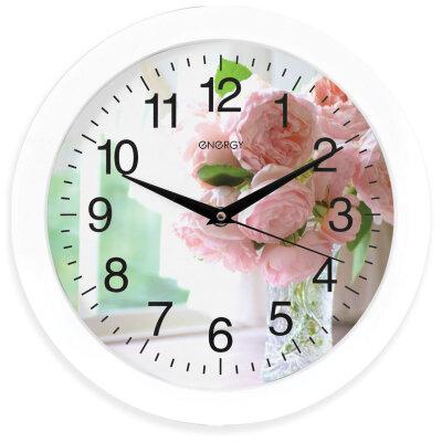 Часы настенные круглые Цветы 28 см ENERGY ЕС-96