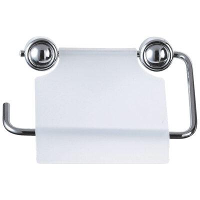 Держатель настенный для туалетной бумаги Рыжий КОТ B0926 металлический с крышкой пластик