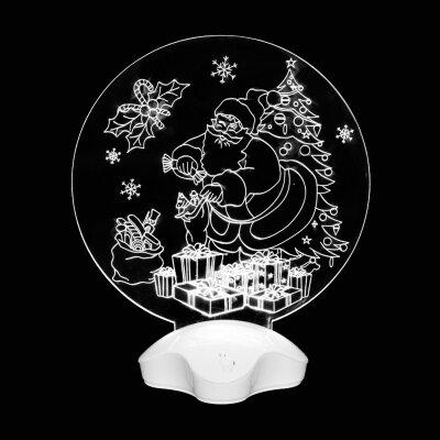 """Светодиодный светильник новогодний """"Дедушка мороз и подарки"""" настольный"""
