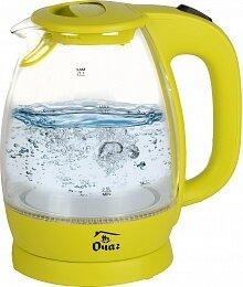 Чайник электрический прозрачный 1.7 л ОЧАГ PR-1786-1 стекло с подсветкой и фильтром, цвет - Желтый