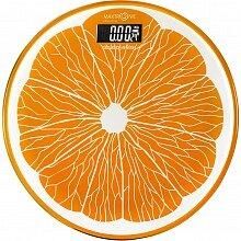 Весы напольные круглые электронные со стеклянной платформой до 180 кг MAXTRONIC MAX-1605 Апельсин