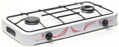 Плита газовая настольная 2-х конфорочная 59x33 см MAXTRONIC MAX-FJ-002SW Белая
