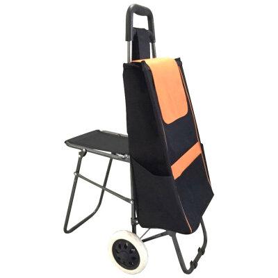 Тележка хозяйственная с сумкой и сиденьем C201, до 25 кг, колесо 16 см