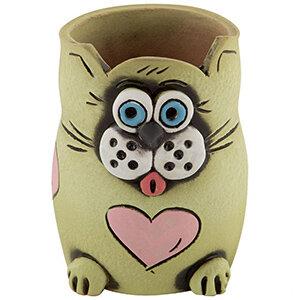 Карандашница Кошка для карандашей керамика 11см