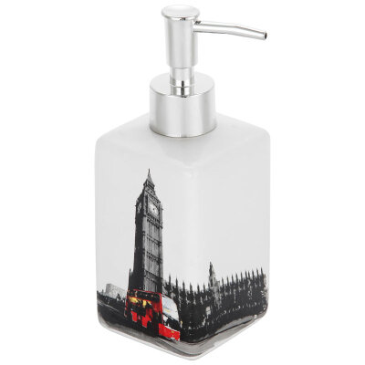 """Рыжий КОТ DIS-L Мыльница дозатор для жидкого мыла """"Лондон"""" 250 мл, керамика"""