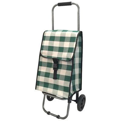 Рыжий КОТ Green Тележка хозяйственная с сумкой, до 25 кг, колесо 135 мм