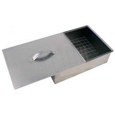 Коптильня горячего копчения одноярусная 420х270х140 мм для дачи