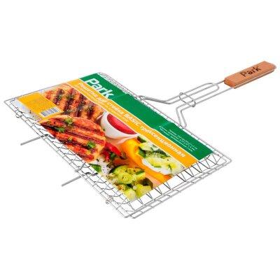 Решетка для стейка трехсекционная плоская PARK BASIC 34х21х3 см
