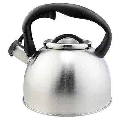 Чайник 2.5 литра Mallony Lacrima со свистком для плиты из нержавеющей стали, матовый