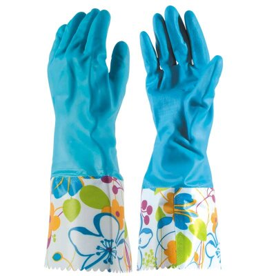 Перчатки хозяйственные латексные LG-Cu PARK M с длинными манжетами