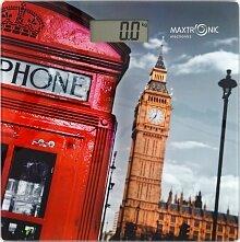 Весы напольные электронные Лондон до 150 кг MAXTRONIC MAX-309 стеклянная платформа