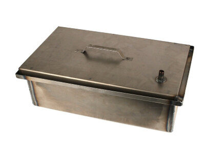 Коптильня двухуровневая с поддоном для сбора жира и гидрозатвором 49х29х19 см К2-1,5ГЗ Кедр