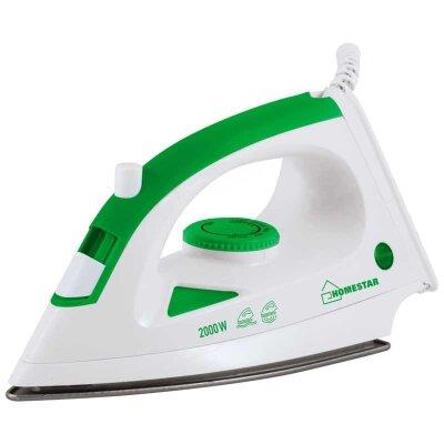 Утюг с тефлоновым покрытием HomeStar HS-4001 бело-зеленый 2000 Вт