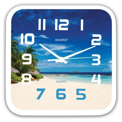 Часы квадратные настенные 25х25 см ENERGY ЕС-99 кварцевые пластиковый корпус
