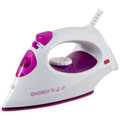 Утюг с тефлоновым покрытием 1800 Вт ENERGY EN-336V фиолетовый, паровой удар, вертикальный пар, спрей