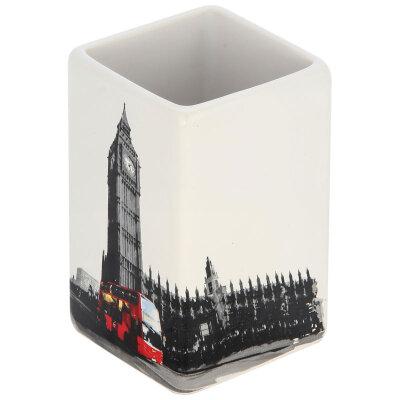 """Стакан для ванной комнаты """"Лондон"""" TU-L, керамика"""