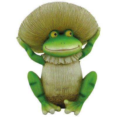 Фигурка садовая «Лягушка грибок» GK-FrM-95 полистоун высота 20 см