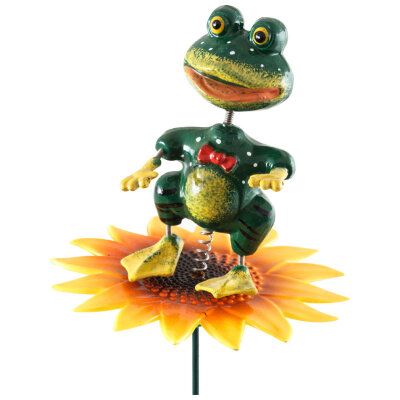 "Штекер садовый ""Лягушка на цветке"" GS-AR3057-5"