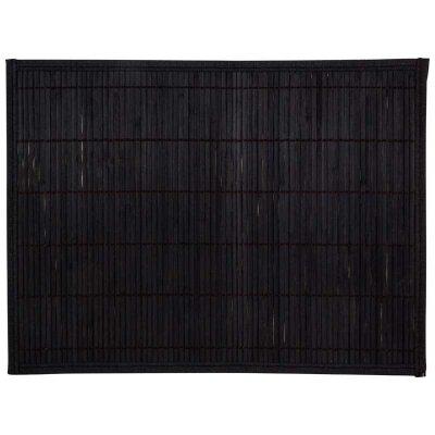 Салфетка сервировочная из бамбука 30х40 см Рыжий Кот BM-04 чёрная, подложка не скользящая