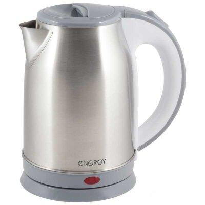 Чайник электрический ENERGY E-202 из нержавеющей стали 1.8 л 1500 Вт, Серый
