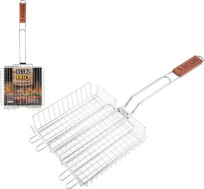Глубокая решетка для барбекю регулируемая ECOS Х-381D 22x22 см, общая длина 58 см
