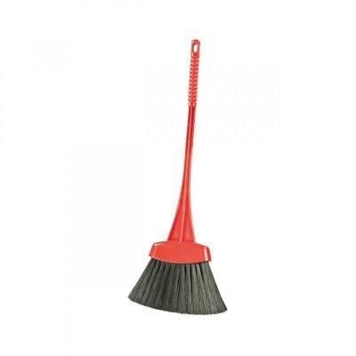 Веник с пластиковой ручкой жесткий Мини М2172 52 см