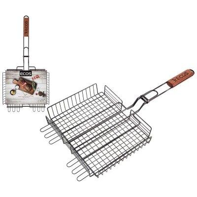 Решетка для барбекю ECOS-22139W стальная с антипригарным покрытием 31x24x5 см
