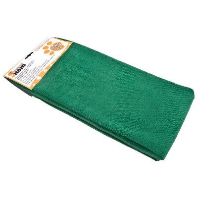Тряпка для мытья пола из микрофибры 80х100 см Рыжий КОТ M-02F-XXL, цвет: зеленый