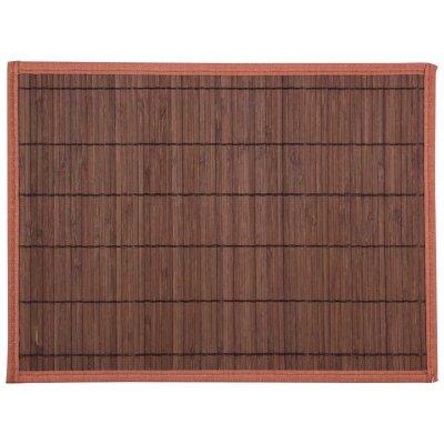 Салфетка сервировочная из бамбука 30х40 см Рыжий Кот BM-05, тёмно-коричневая, нескользящая подложка