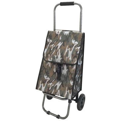Тележка хозяйственная с сумкой D203 до 25 кг, цвет - ХАКИ