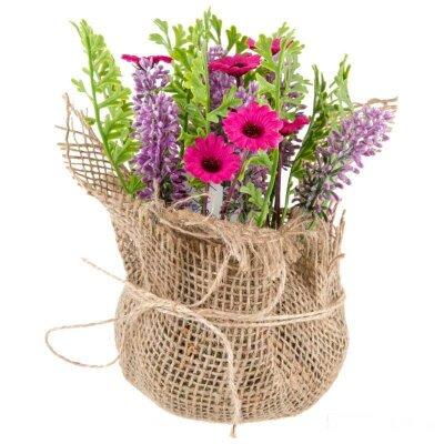 Букет из искусственных цветов для декора Нежное лето 11x11x20 см
