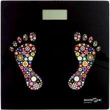 Весы напольные электронные домашние MAXTRONIC MAX-285 со стеклянной платформой до 150 кг
