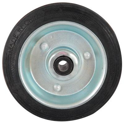 Колесо металлическое для сумки-тележки хозяйственной, 100 мм, Узкое