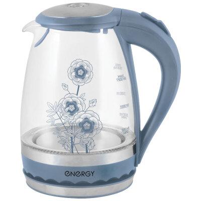 ENERGY E-279 Чайник электрический стекло с подсветкой 1.5 л Серый