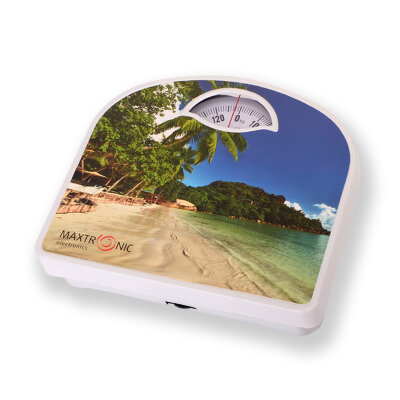 Весы бытовые напольные механические до 130 кг MAXTRONIC MAX-LOT-D Морской пляж