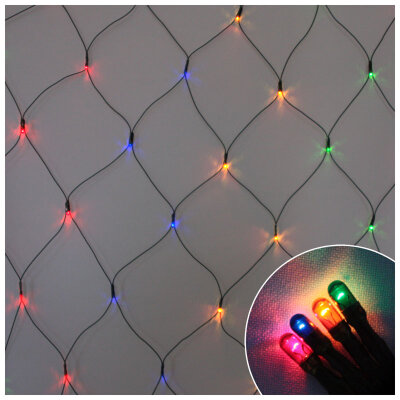 """Гирлянда многоцветная """"Сетка"""" R/Net-160-MC 0.9x1.5 м 160 ламп 8 режимов"""