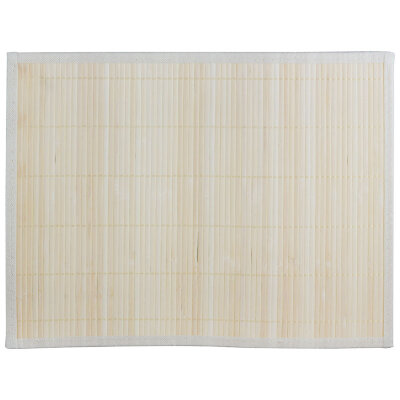 Бамбуковая салфетка для сервировки стола 30х40 см Рыжий Кот BM-06, бело-коричневая