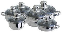 Regent 93-Lv11 Набор посуды для плиты, нержавеющая сталь, 12 предметов
