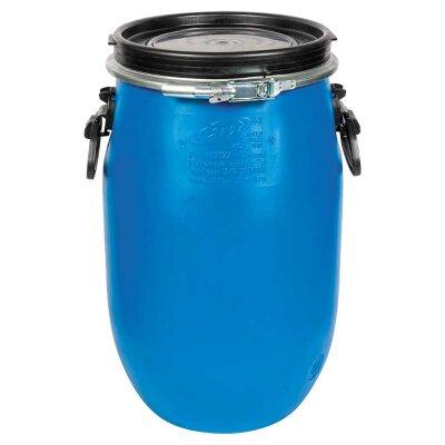 Пластиковая бочка 65 литров Open Top с ручками, металлическим ободом и крышкой