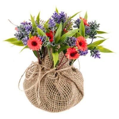 Букет из искусственных цветов Лаванда в маргаритках для декора 10.5x10.5x18 см