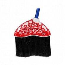 Пластиковый веник для уборки дома М3431 Камелия с черенком жесткий красный